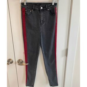 Forever21 red stripe jeans